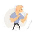 ready to fight aggressive man funny boxer vector image