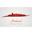 Richmond skyline in red vector image vector image