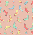 seamless colorful socks pattern vector image vector image