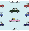 Seamless of Activities during traffic jam vector image