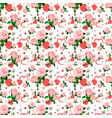 seamless roses pattern for valentines day vector image vector image
