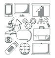 set of business elements vector image