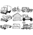 set of transportation vector image