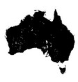 silhouette map of australia vector image