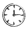 sketh clock time hour minute image vector image