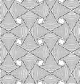 Slim gray striped arrows vector image