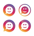 Smile face sign icon Smiley symbol vector image vector image