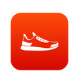 sneaker icon digital red vector image vector image