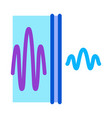 sound and silence icon outline vector image vector image