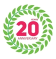 Template Logo 20 Anniversary in Laurel Wreath vector image