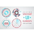 UI infographic interface web elements vector image vector image