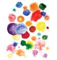 watercolor circles hand drawn vector image