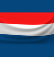 waving national flag of netherlands vector image vector image
