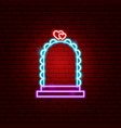 wedding arch neon sign vector image vector image