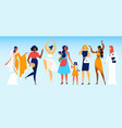 women different professions and social status vector image