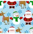 New Year Christmas seamless pattern vector image