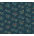 Seamless firework salute pattern isolated on blue vector image