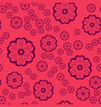 seamless pattern round shapes on pink background vector image