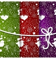 abstract background with snowflake set vector image