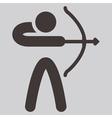 2269 Archery icon vector image vector image