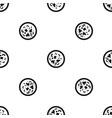 asian hot dish pattern seamless black vector image vector image