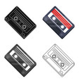 audio cassette icon in cartoon style isolated on vector image vector image