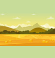 autumn landscape with vector image vector image