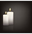 background with two candles vector image vector image