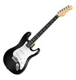 black and white electric guitar classic vector image