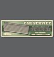 car repair service air filters replacement vector image vector image