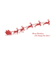 christmas red reindeer vector image