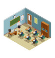 classroom hour isometric composition vector image vector image