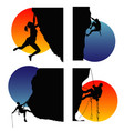 climbers vector image vector image