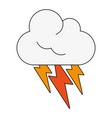 cloud weather symbol vector image vector image