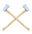 color image two crossed axes on a white vector image vector image