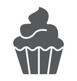cupcake glyph icon sweet and tasty dessert vector image vector image