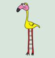 Cute bird cartoon vector image vector image