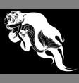 cute cartoon mermaids siren sea silhouette in vector image vector image
