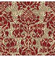 damask arabesque motif leopard skin background vector image vector image