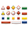 Danger traffic board icon elements vector image vector image