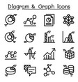 data diagram graph infographic icon set vector image