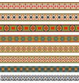 decorative seamless border vector image