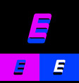 e monogram letter ribbon vector image vector image