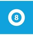 Eightball icon simple vector image