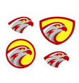 falcon or hawk head sport logo mascot design set vector image vector image