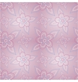 Floral pink seamless pattern vector image