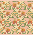 floral seamless texture in art-nouveau style vector image vector image