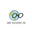 globe logo explorer icon vector image vector image