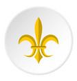 gold royal lily icon circle vector image vector image
