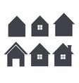 house icon set real estate logo template im vector image vector image
